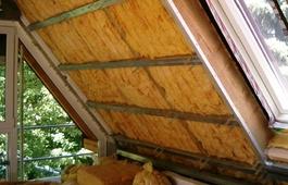 Dämmung in einem Dachgeschoss