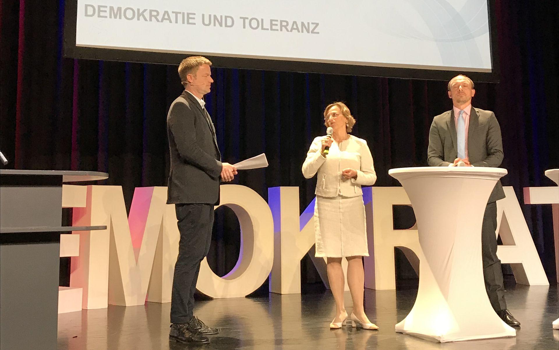 Verleihung des Botschaftspreises an OB Grabe-Bolz