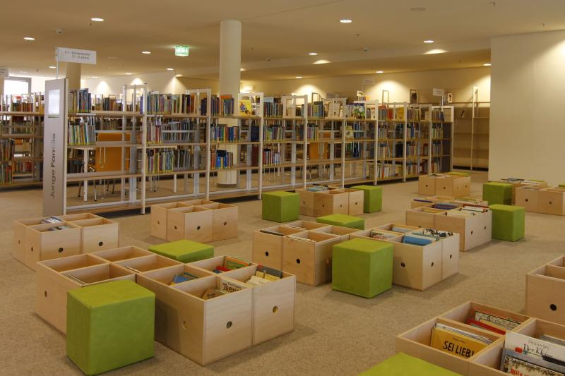 Kinderbuchbereich in der Stadtbibliothek