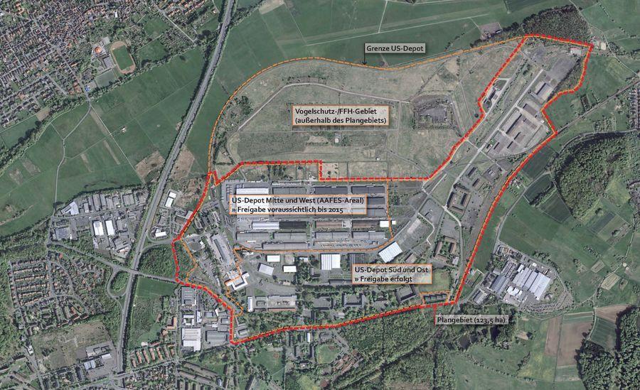 US-Depot Luftbildübersicht