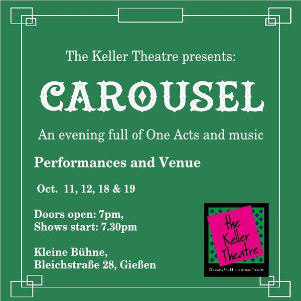 the Keller Theatre presents Carousel - Plakat