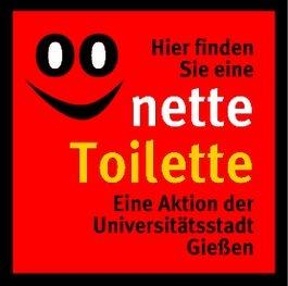 «Nette Toilette« - der Aufkleber