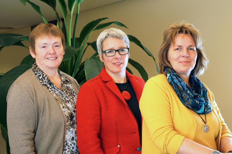 Team Frauenbüro - Birgit Hildebrandt, Friederike Stibane, Petra Dehn (von links nach rechts)