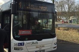 Front eines Linienbusses