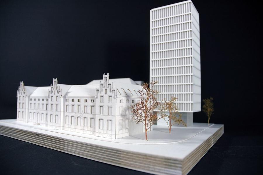 Entwurf von Architekturstudenten zum Umbau Alte Post
