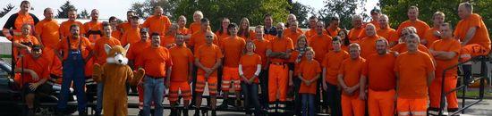 Gruppenbild mit Mitarbeitern der Stadtreinigung