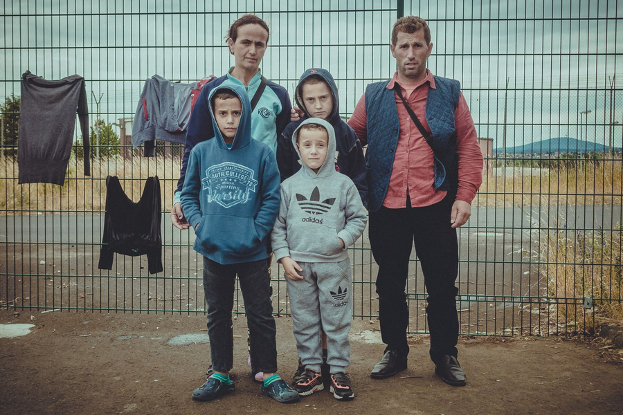 Flüchtlingsfamilie Albanien