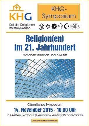 Plakat Religionen im 21. Jahrhundert - Symposium