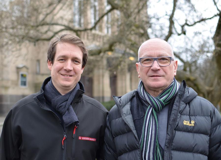 Tilman Bucher (links, neuer Event Manager bei der Gima) und Herbert Martin