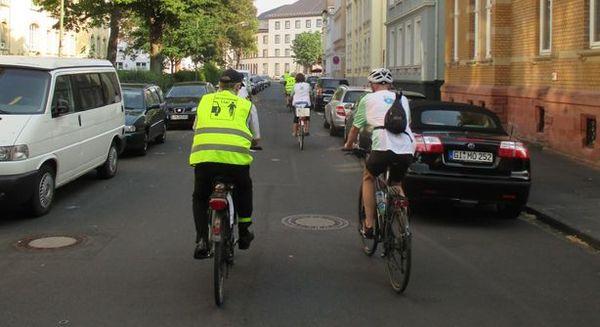 Stadtradeln - Fahrradfahrer in der Stadt Gießen