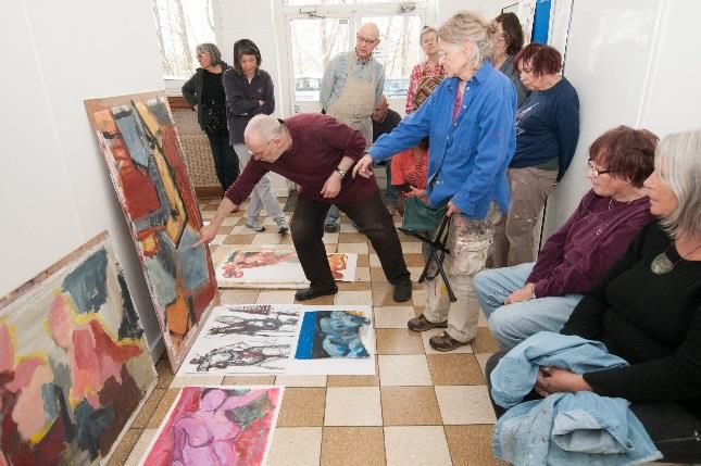 Malereikurs an der Gießener Volkshochschule