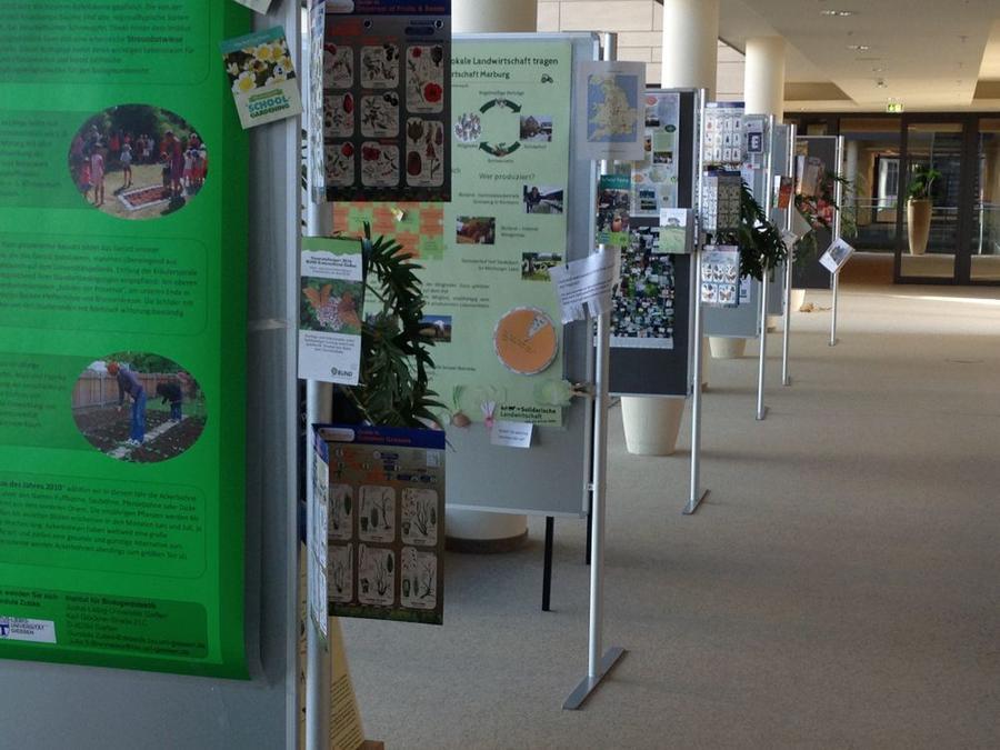 MINT+ - Ausstellung vor der Stadtbibliothek