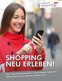 Plakat zur Onlineumfrage Shopping neu erleben