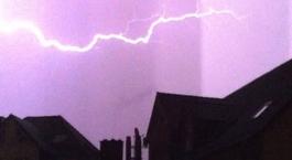 Blitz über Gießen
