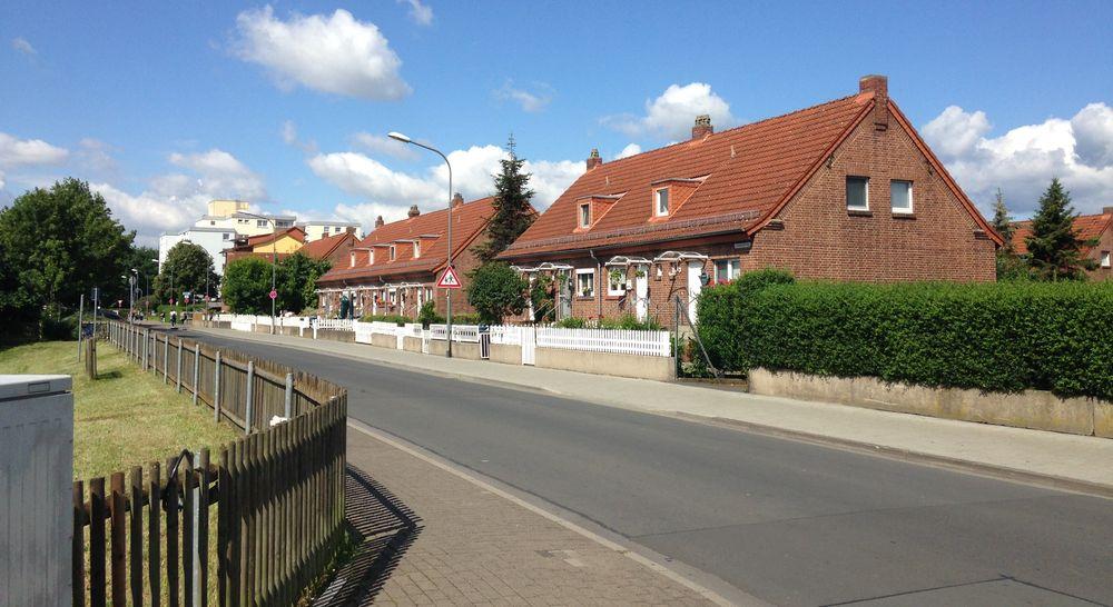 Häusersiedlung in der Weststadt in Gießen - genannt