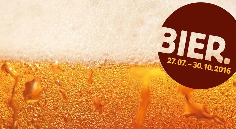 Bildausschnitt Flyer Bierausstellung