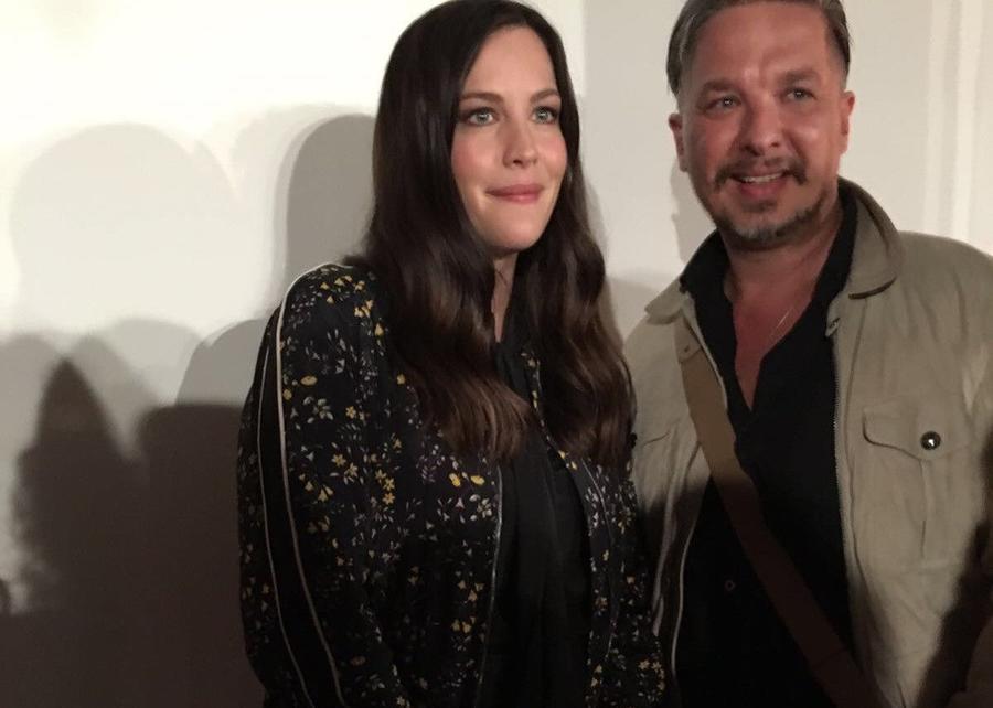 Privatfoto: Nico Seifert mit Liv Tyler im Rahmen der Fashion Week London 2016