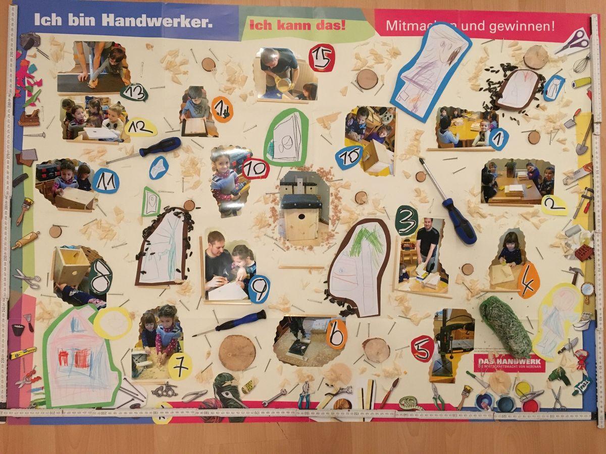 Plakat Fleißige Handwerker der Kita Alter-Wetzlarer-Weg