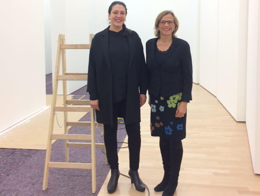 Dr. des. Nadia Ismail und OB Grabe-Bolz