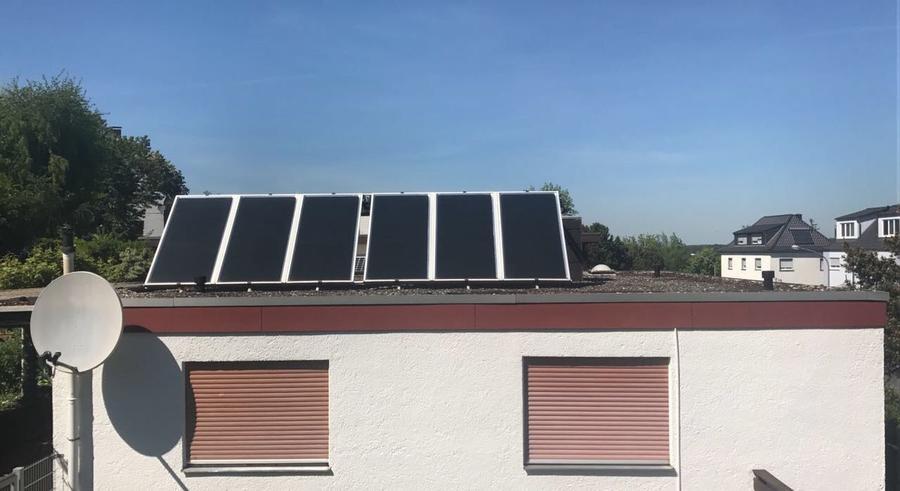 Solaranlage auf einem Wohnhaus