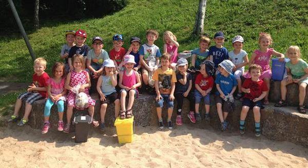 Teilnehmende Kinder beim Sauberhaften Kindertag am 30.05.2017 in Gießen-Allendorf