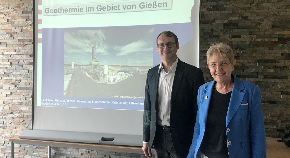 Dr. Johann-Gerhard Fritsche mit Bürgermeisterin Gerda Weigel-Greilich