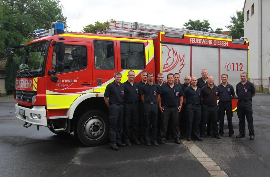 Feuerwehr mit Stadtrat Neidel