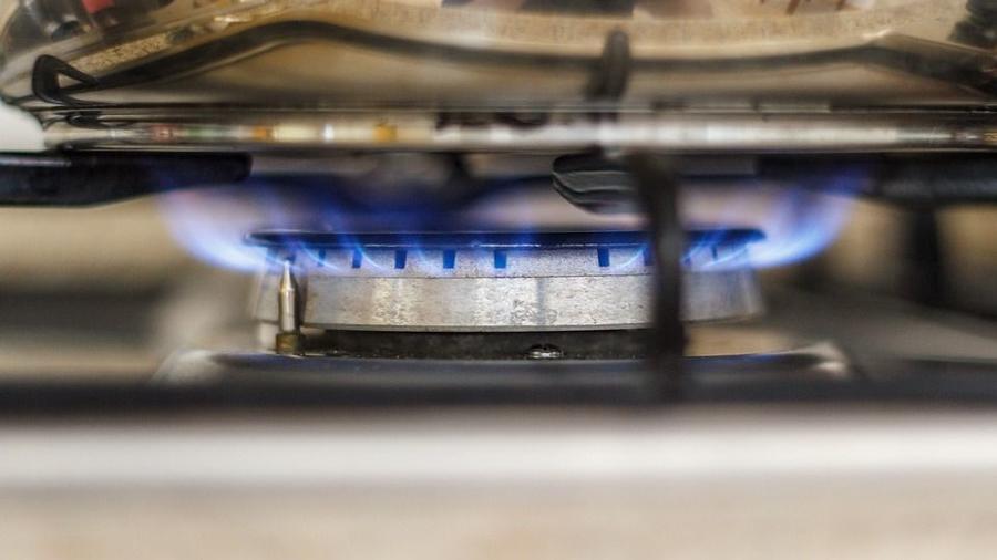 Flamme eines Gasherds