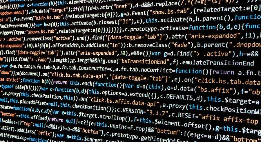 Daten - Code einer Software