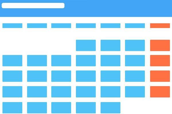 Kalender - Schematische Darstellung