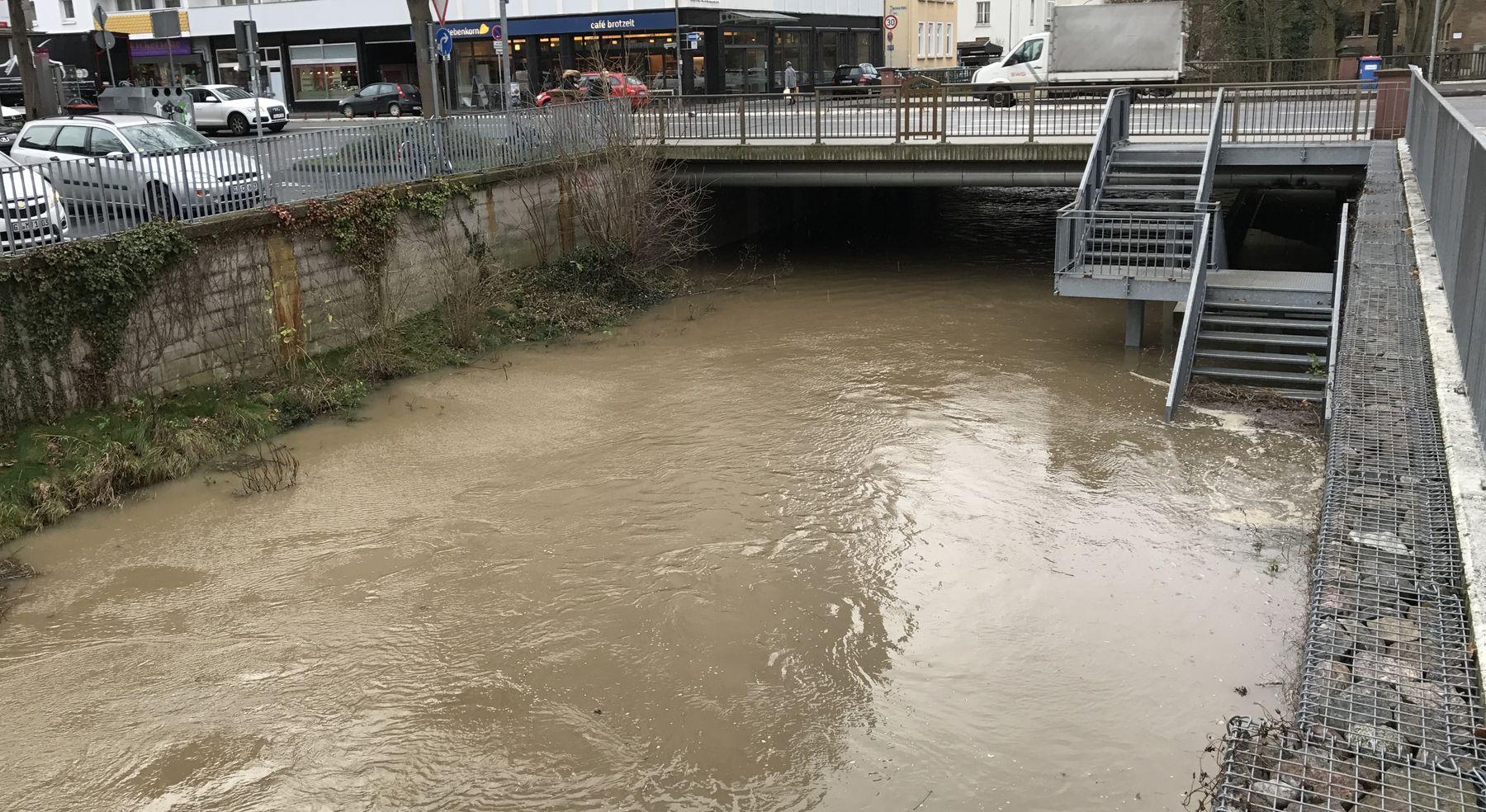 Hochwasser Wieseck