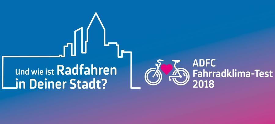 Logo ADFC Fahrradklima-Test 2018