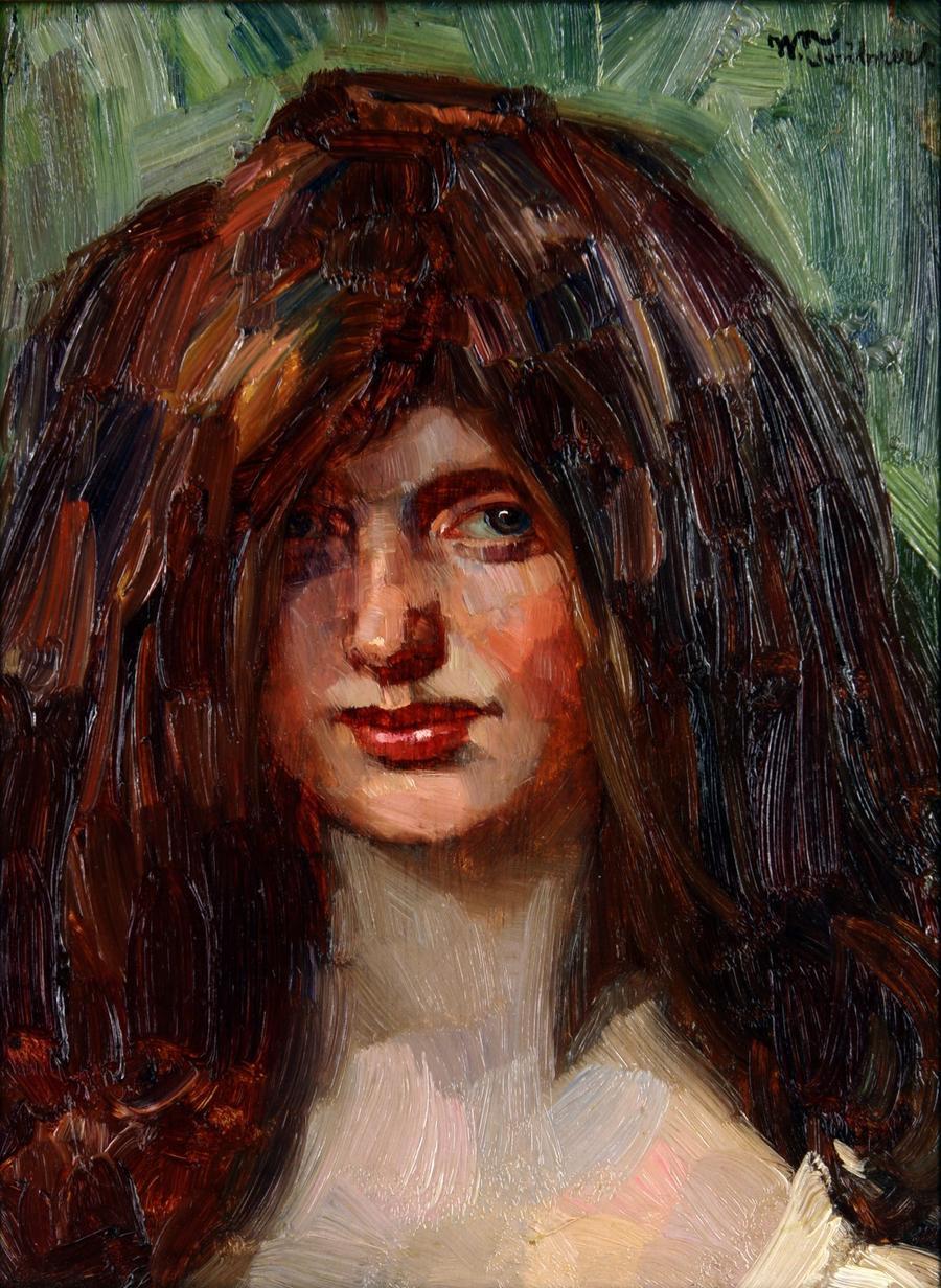 Trübner - Mädchen mit roten Haaren