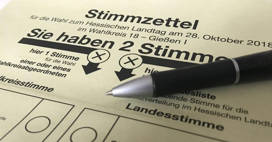 Ausschnitt Stimmzettel landtagswahl