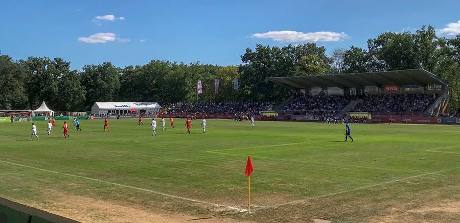 Spiel des FC Gießen im Waldstadion 2018