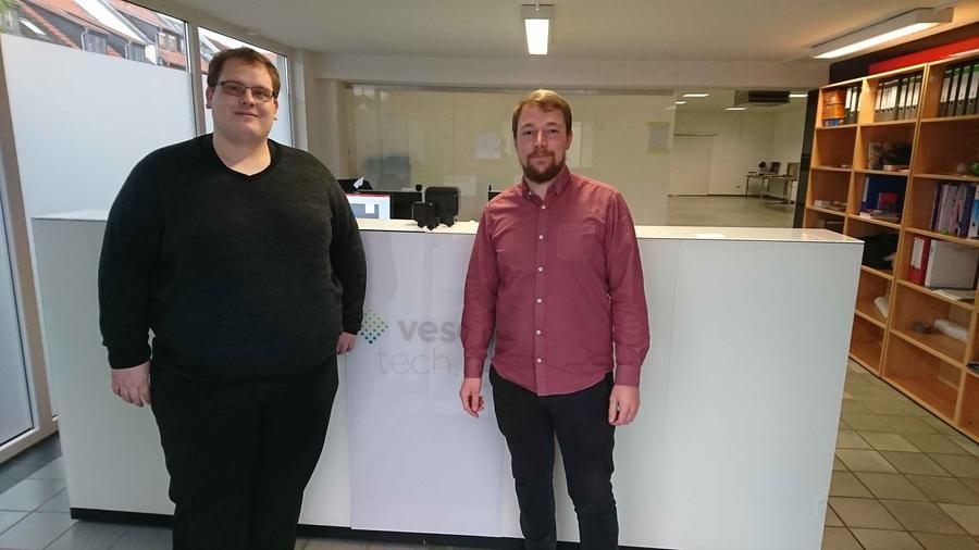(Quelle privat): Christoph Vetter und Martin Schunk; Gründer der Vesch Technologies GmbH
