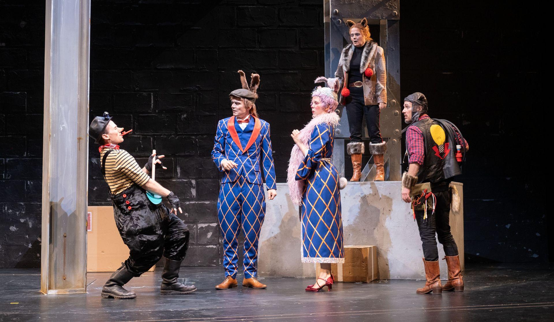 Jupp - ein Maulwurf auf dem Weg nach oben - Szene des Theaterstücks