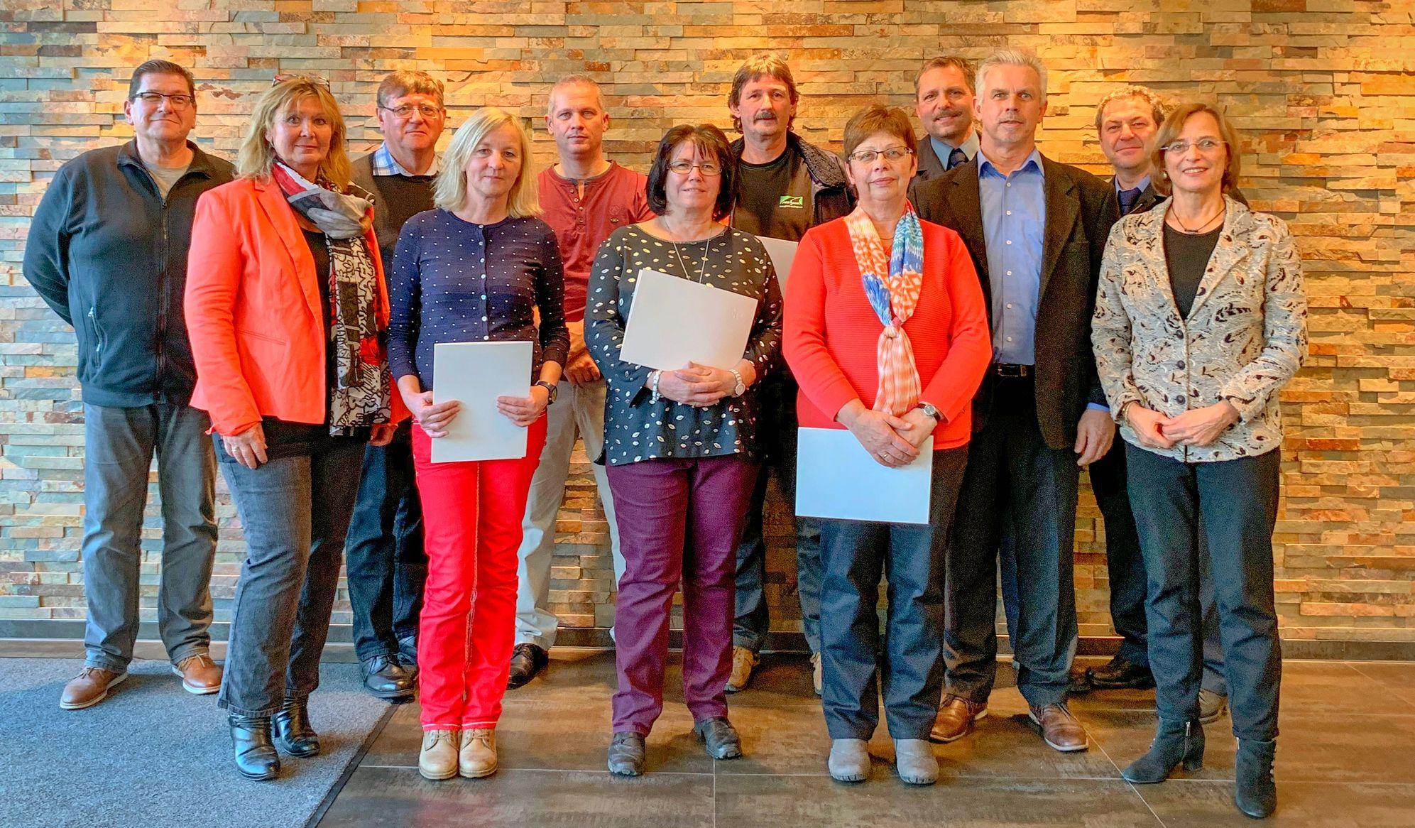 Dienstjubilare bei der Stadt Gießen - Gruppenbild
