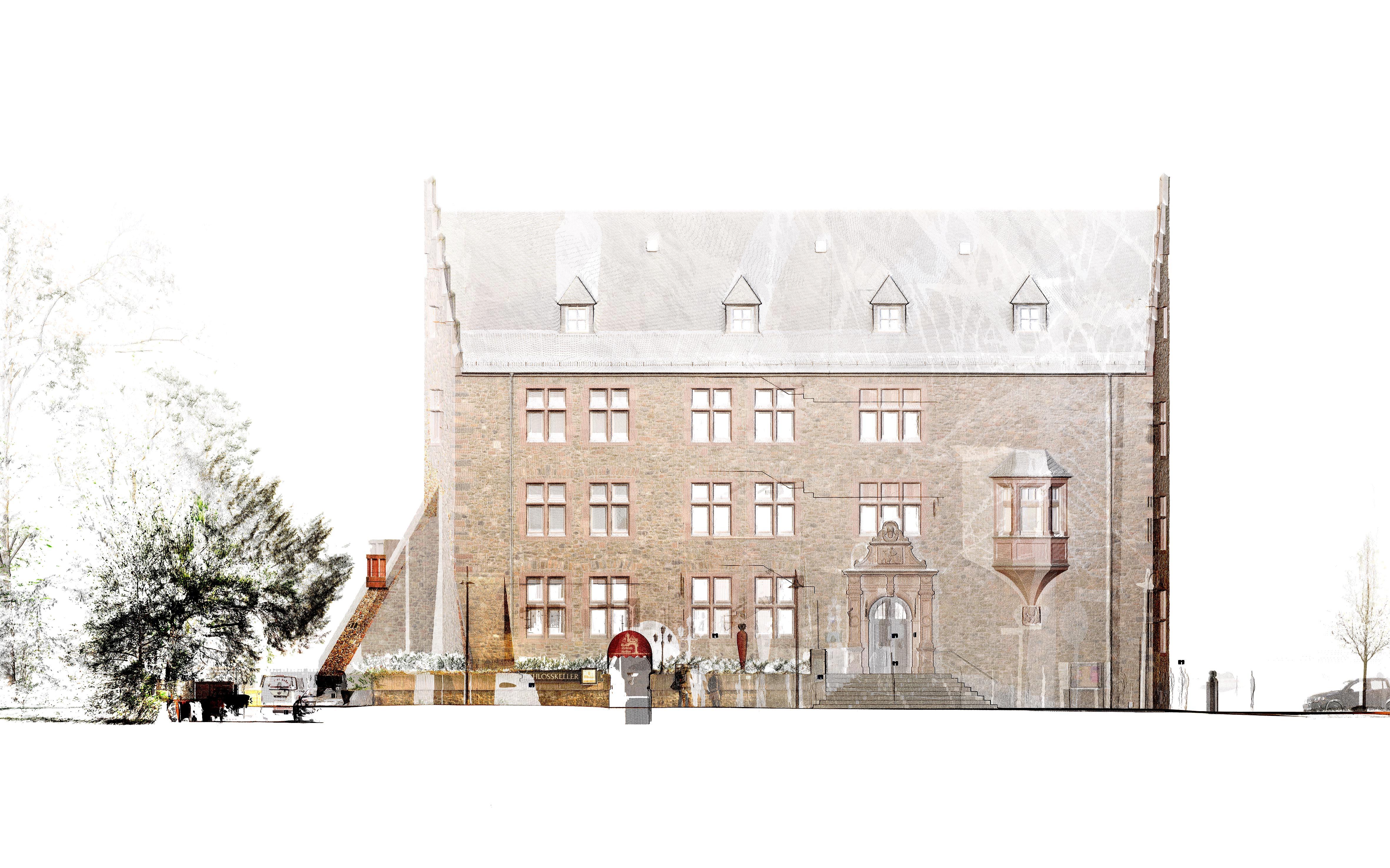 Altes Schloss - Zeichnung
