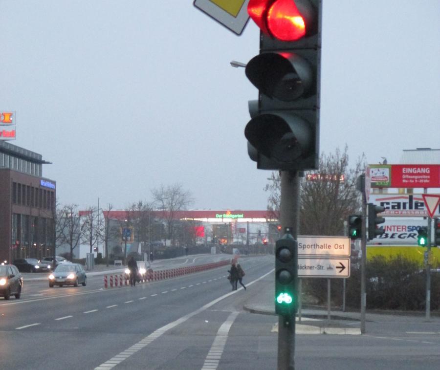 Ampelanlage im Schiffenberger Weg