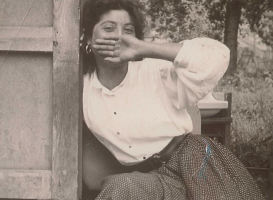 Frau aus einer Sinti-Familie