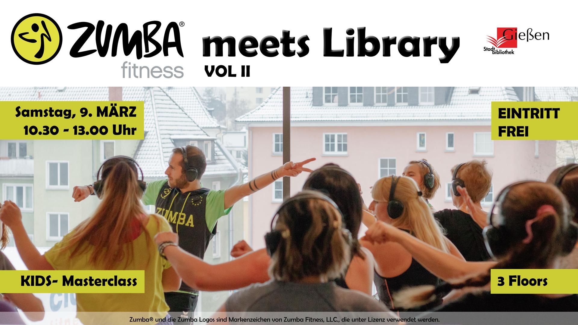 Zumba meets Library Vol. II - Veranstaltungsplakat