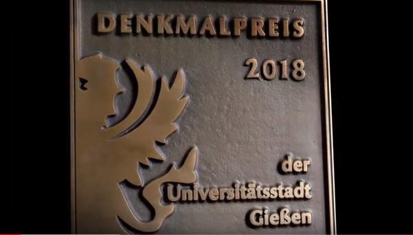 Externer Link: Denkmalpreis 2018 der Universitätsstadt Gießen auf Youtube