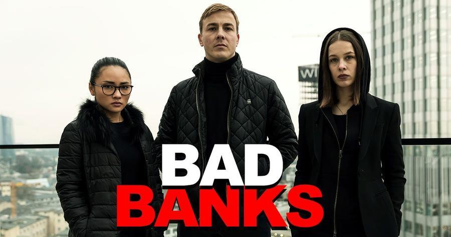 Bad Banks Filmplakat mit drei Schauspielern