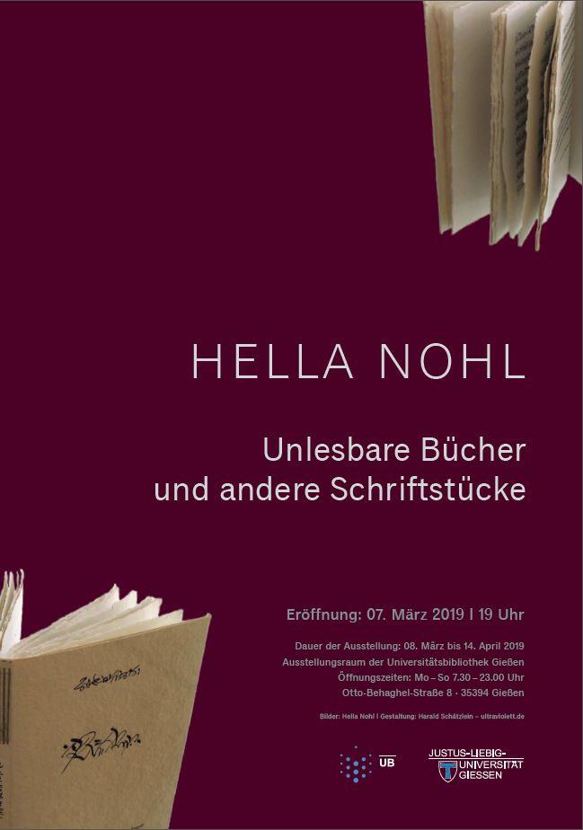 Hella Nohl Plakat
