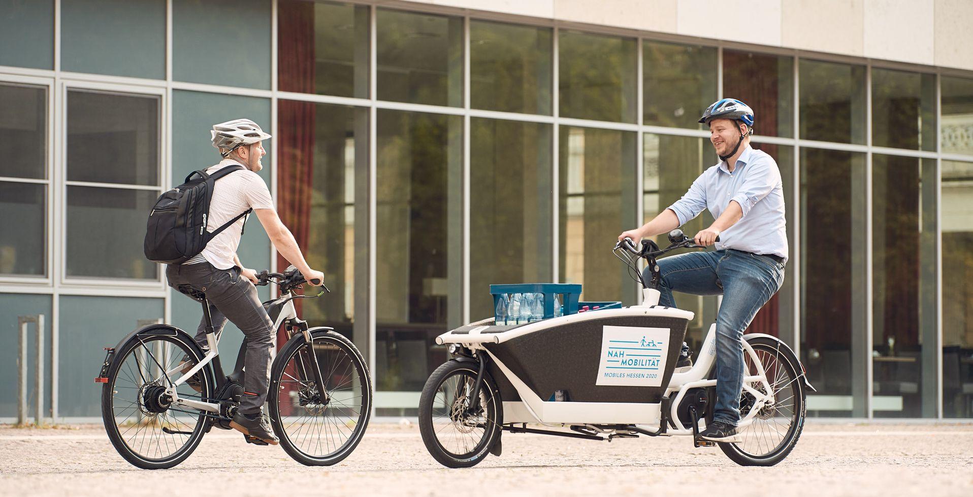 Zwei E-Bike-Fahrer