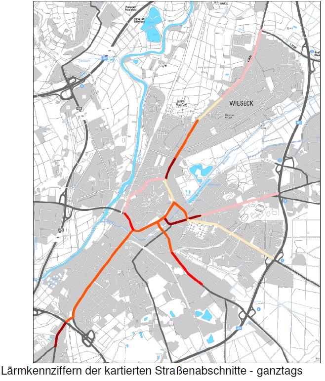 Übersichtskarte Straßen mit Lärmkennziffer (PDF, 467 KB)