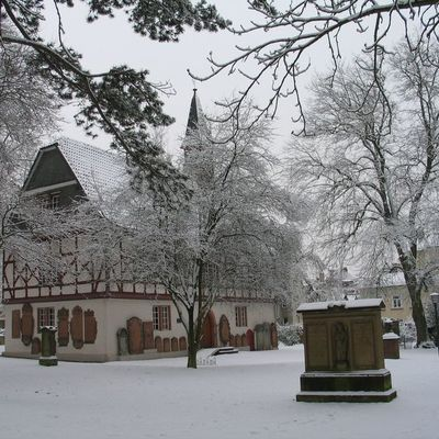 Alter Friedhof - Kapelle im Winter