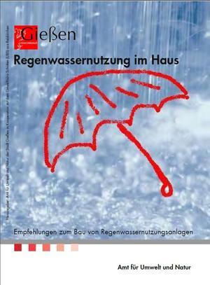 Deckblatt Broschüre Regenwassernutzung
