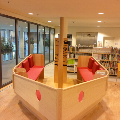 Piratenschiff in der Stadtbibliothek